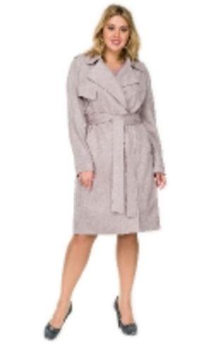 Замшевое пальто женское