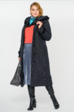 Женские стеганые пальто с отделкой из меха норки