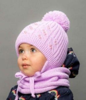 Зимние детские комплекты для девочек : Шапки+снуды+шарфы от ТМ Selfiework