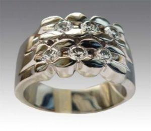 Золотое кольцо с бриллиантами КК1299