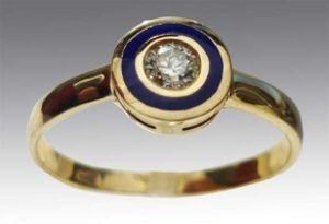 Золотое кольцо с бриллиантом АртБазаръ