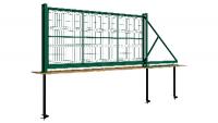 Предлагаем откатные ворота с 3D сеткой