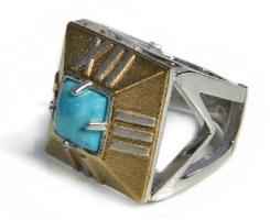 Серебряное кольцо «Часы»